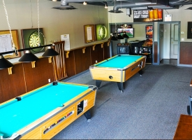 Pool tables and dart boards available